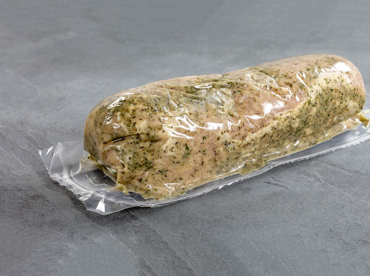 Another example of pork tenderloin showing off forming and non-forming film packaging.
