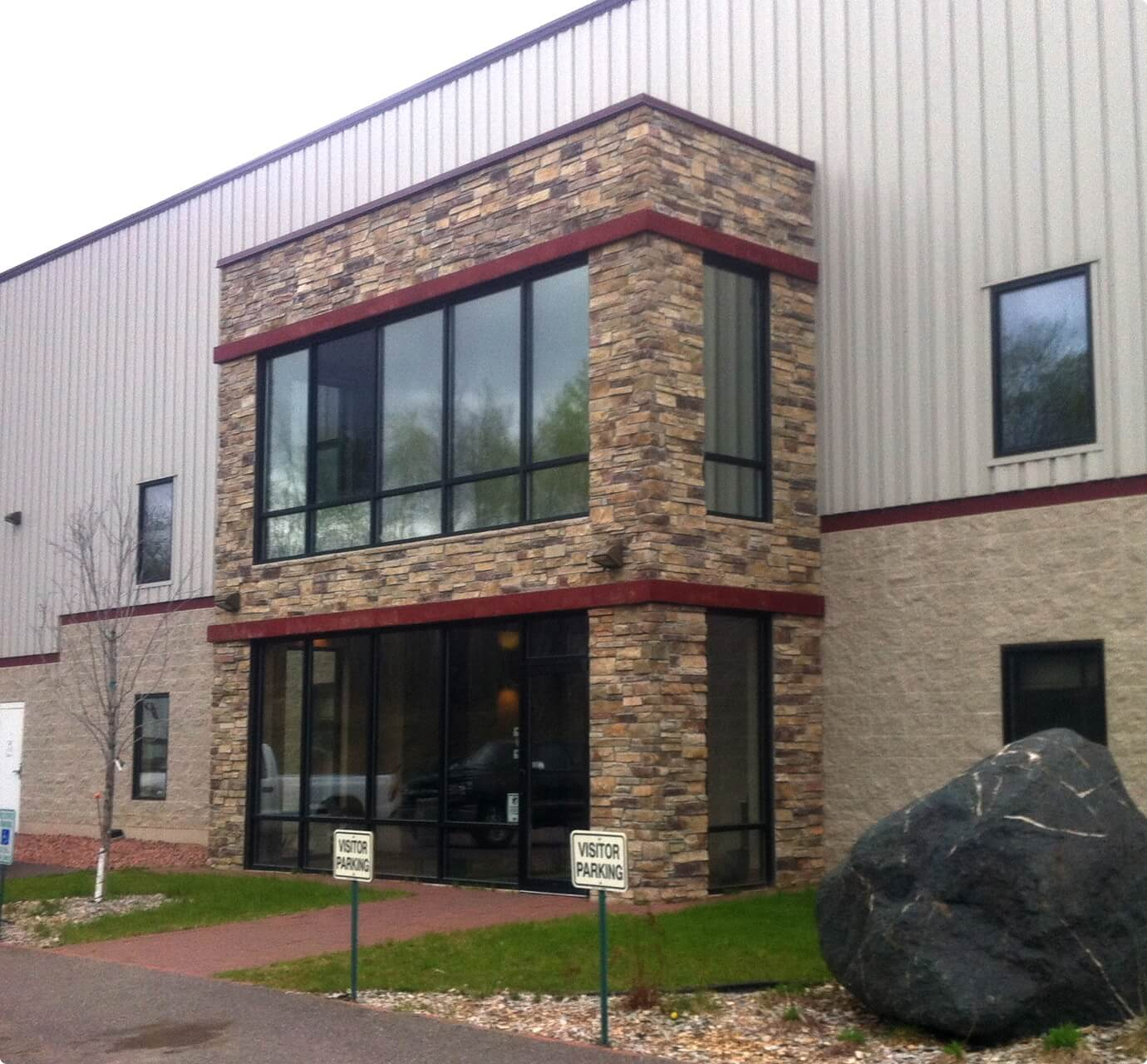 advanced barrier extrusions building entrance