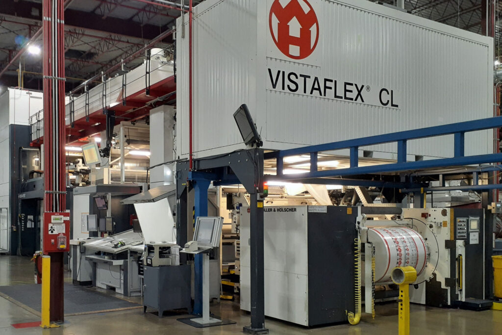 ABX Flexographic Printing Capabilities for Packaging Rely on Windmoeller & Hoelscher wide web presses like this one