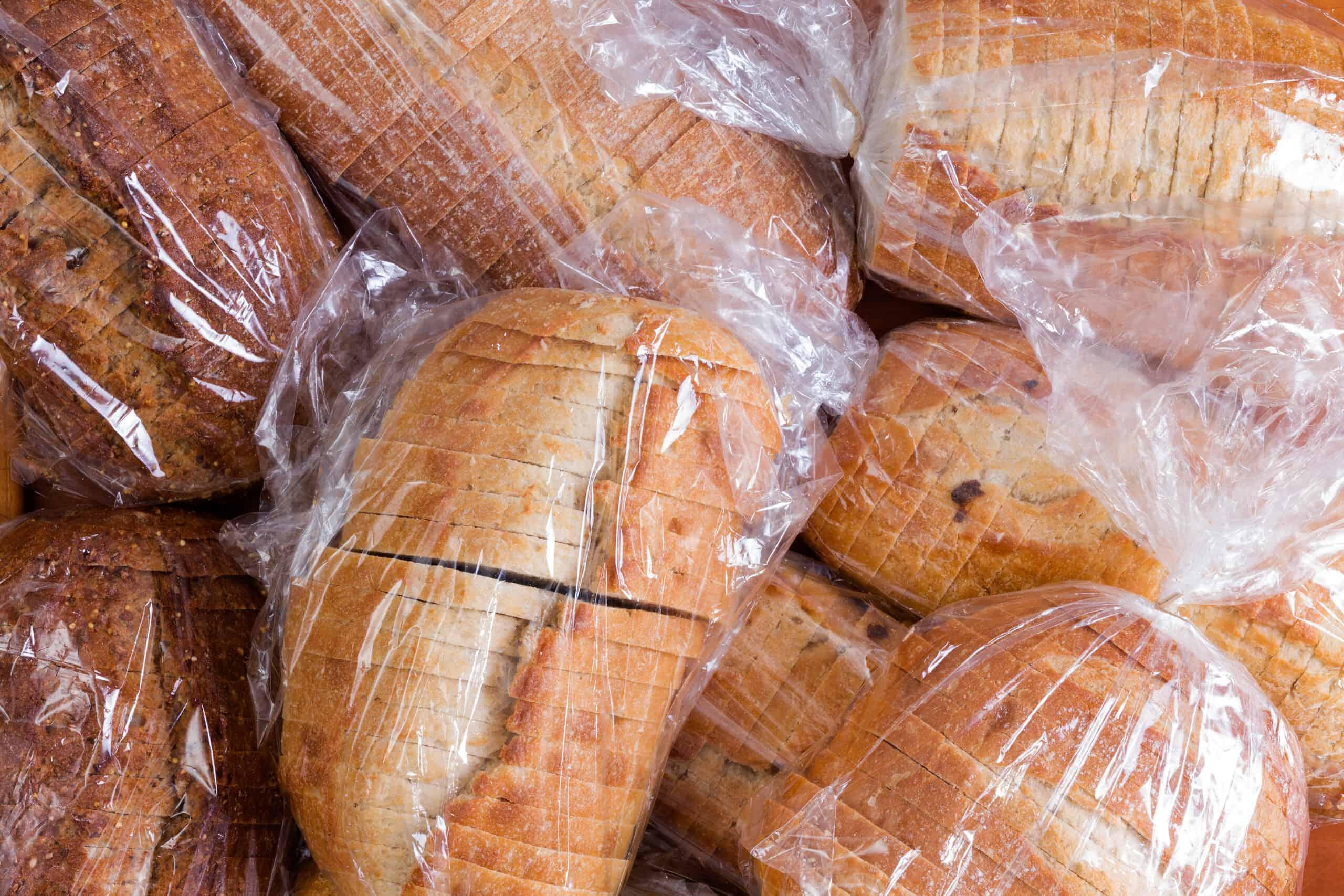sliced bread in bag